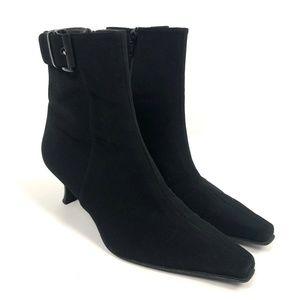 Stuart Weitzman Goretex Ankle Heel Boots Square